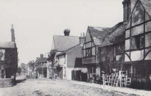 High Street Crawley Sussex Furniture Shop George Hotel Food Restaurant Postcard