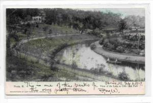 View Of The Lake At Glen Oak Park, Peoria, Illinois, PU-1907