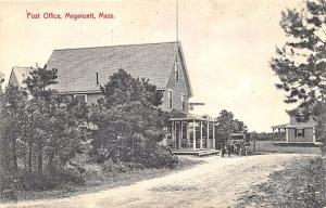 Megansett MA Cape Cod Post Office General Store Old Car Ice Cream Postcard