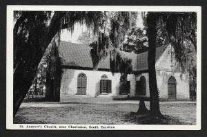 Street View St Andrews Church Charleston South Carolina Unused c1940s