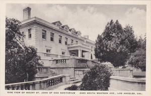 Side View Of Mount St John Of God Sanitarium Los Angeles California Albertype