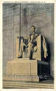 Interior of Lincoln Memorial