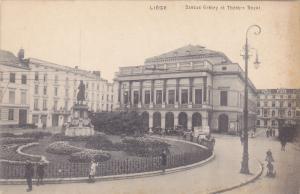 LIEGE, Belgium; Statue Gretry et Theatre Royal, 00-10s