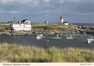 Fishing Village, Lighthouse, Neil Harbour on the Cabot Trail, Cape Breton Isl...