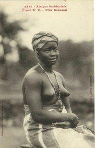 CPA AK Senegal Ethnic Nude Fortier - 1332. Étude N 11 Fille Soussou (70906)
