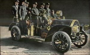 Washington DC Auto Chemical Fire Engine Car & Crew c1910 Postcard