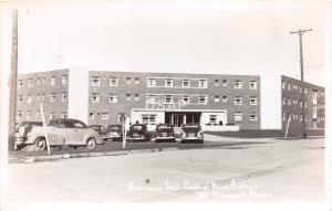 C54/ Mt Mount Pleasant Michigan RPPC Postcard 40s Robinson Hall Central College2