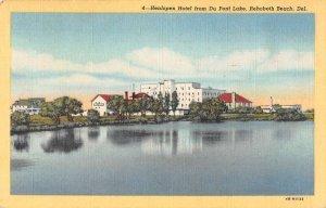 Rehoboth Beach Delaware Henlopen Hotel from Du Pont Lake Postcard AA37470
