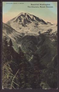 The Glaciers,Mount Rainier,WA Postcard