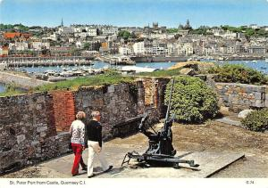 C.I. Guernsey St. Peter Port from Castle boats harbour