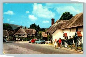 Lulworth Village UK-United Kingdom, Scenic View, Chrome Postcard