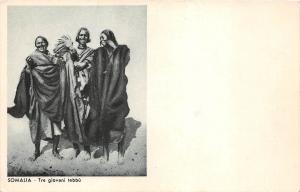 B9566 Somalia Occupation Italiene Tre Giovani Tebbu
