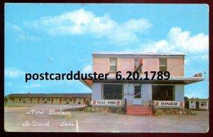 1789 - ST. DAVID Quebec Postcard 1962 Motel Barbeau & Diner