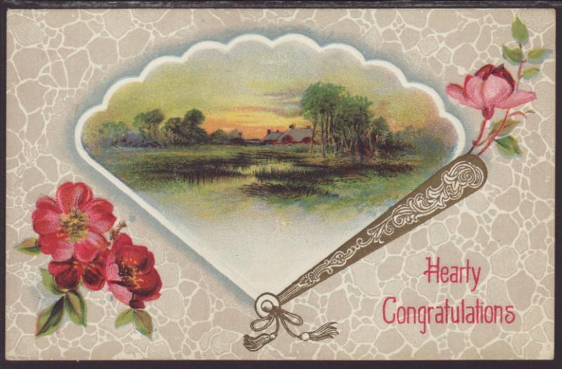 Hearty Congratulations,Flowers,Scene / HipPostcard