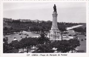 RP: LISBOA , Portugal , 30-40s ; Praca do Marques de Pombal