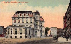 Post Office, East Side, Hartford, Connecticut, 1915 Postcard, Unused
