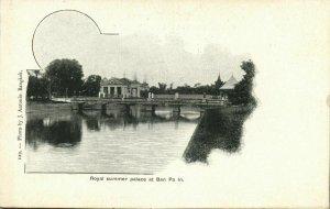 siam thailand, BAN PA IN, Royal Summer Palace (1899) Postcard