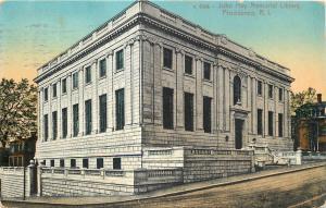 Providence Rhode Island~John Hay Memorial Library~1912 Postcard