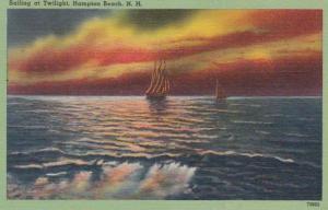 New Hampshire Hampton Beach Sailing At Twilight