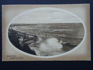 Essex DOVERCOURT BAY Bandstand & Rough Sea c1908 Postcard by Valentine