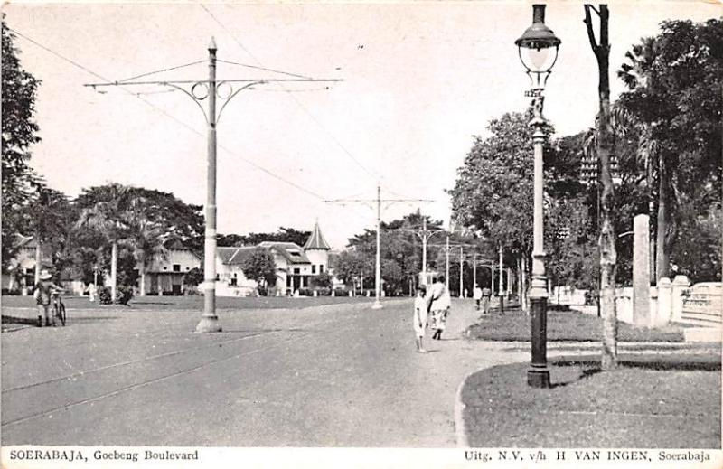 Soerabaja Indonesia, Republik Indonesia Goebeng Boulevard Soerabaja Goebeng B...