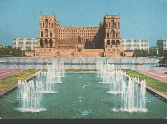 113310 Azerbaijan BAKU government building POSTAL stationery