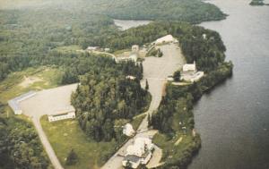 Aerial View, L'ermitage St. Antoine du Lac Bouchette, CTE. ROVERVAL, Quebec, ...