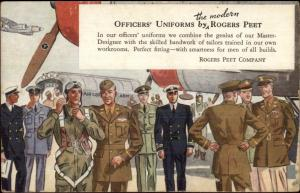 Rogers Peet Co Officers Uniforms Navy Army Air Force Marines c1930 Postcard