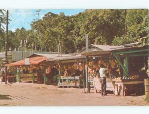 Pre-1980 FRUIT VENDOR STAND Luquillo Beach - Near San Juan Puerto Rico PR E7234