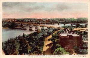 Canada Saskatchewan River Saskatoon Bridges River Ponts Postcard