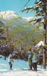 Skiers At Summit Of Mt Mansfield Stowe Vermont 1957