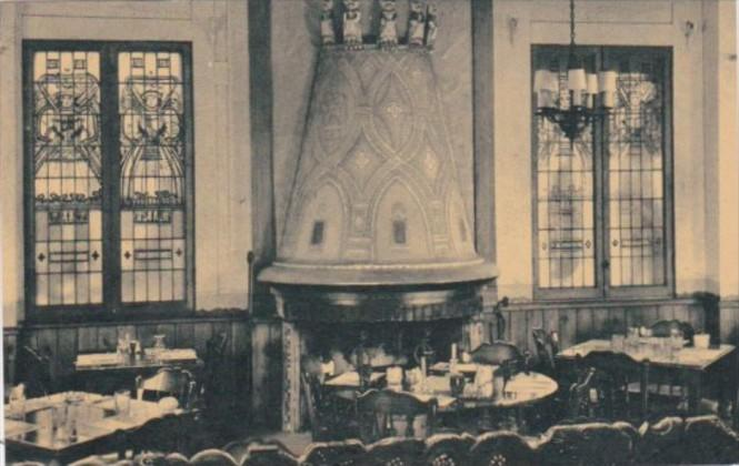 Illinois Chicago Normandy House Restaurant Dining Room Curteich