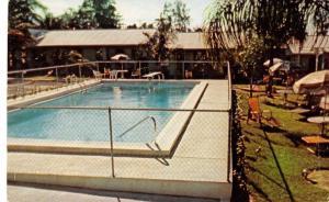 Eustis Florida swimming pool Huskey Villa Motel vintage pc ZA440467