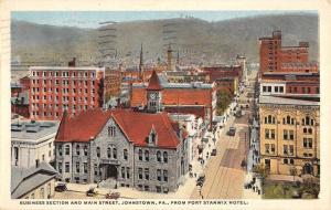Johnstown Pennsylvania Business Section Main Street Antique Postcard K21351