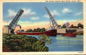 Ohio Lorain Erie Avenue Bascule Span Bridge Curteich