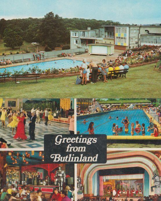 Pontins Barton Hall Torquay Holiday Camp Swimming Pool Devon Butlins 2 Postcard