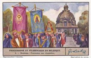 Liebig Vintage Trade Card S1341 Processions & Pilgrimages in Belgium No 2 Pro...