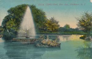 Clark's Pond Fountain near East Avenue - Rochester, New York - pm 1912 - DB