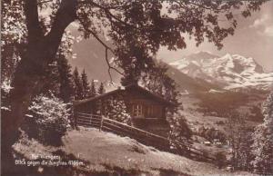 Schweiz Blick gegen die Jungfrau Bei Wengen