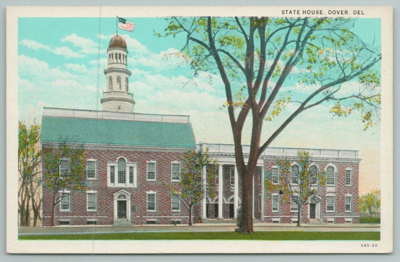 Dover Delaware~Aerial View Of State House~Vintage Postcard