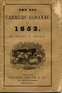 The Old Farmers' Almanac (Robert B Thomas)-1853 (7.5 X 5.125)50pp, stringbound
