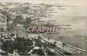 Postcard Modern Panoama of Nice the Italian Border