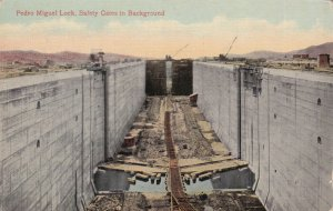 PANAMA CANAL, 1900-1910s; Pedro Miguel Lock, Safety Gates In Background