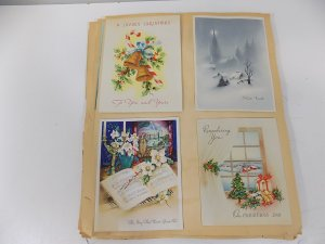 Vintage Greeting Card Scrapbook Pages and Cards