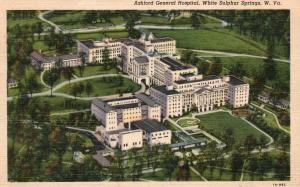 White Sulphur Springs, WV, Ashford General Hospital, Vintage Postcard f8700