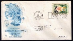 1968 United Nations Sc #188 FDC World Weather Watch Great Condition.