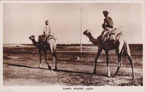 RP ; Camel Riders , Aden , Yeman , 10-30s