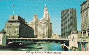 Illinois Chicago Chicago River At Wabash Avenue