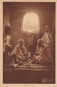 Four middle eastern men playing cards, Cafe maure, 10-20s