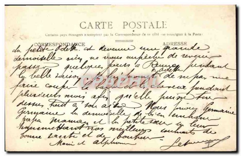 Old Postcard Musee du Luxembourg Guillou Arrival forgiveness of St. Anne